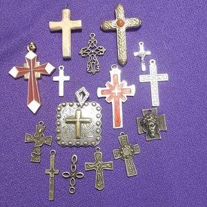 Lot of Vintage/Antique crosses